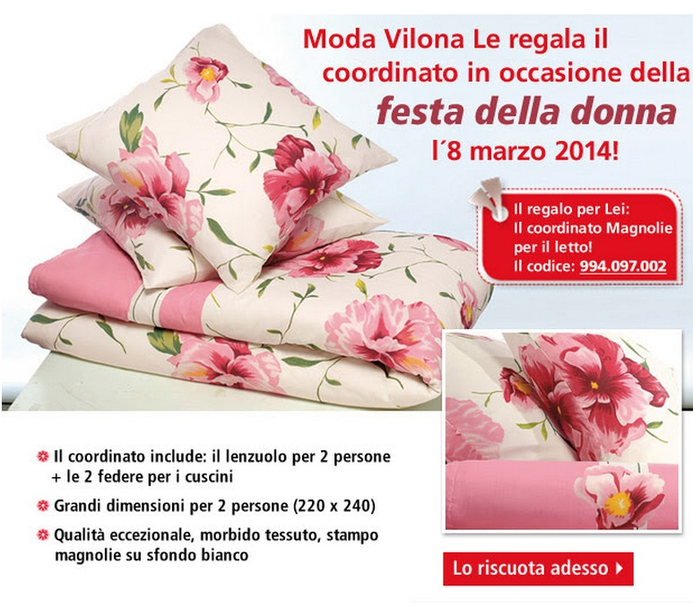 Moda Vilona Ti Regala Il Coordinato Magnolia A Fronte Di Un
