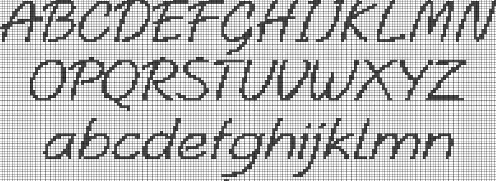 Favoloso Schema] - Alfabeto punto croce, schemi gratuiti (vari) | Il Forum  AB28