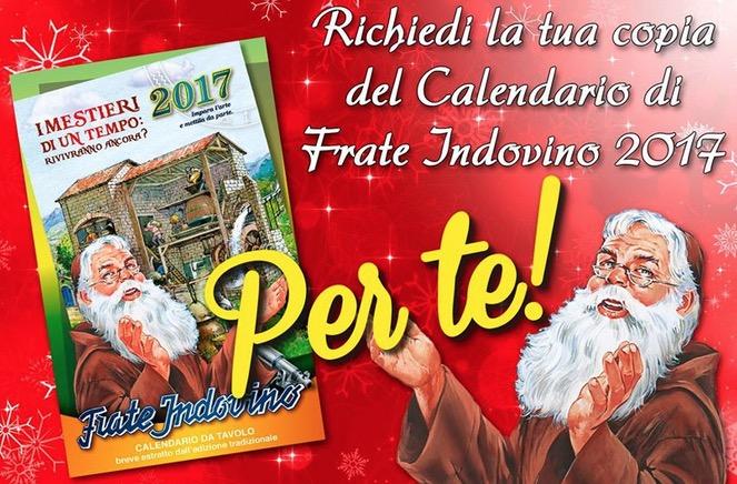 Il Calendario Di Frate Indovino.Calendario 2017 Gratis Frate Indovino Versione Da Tavolo